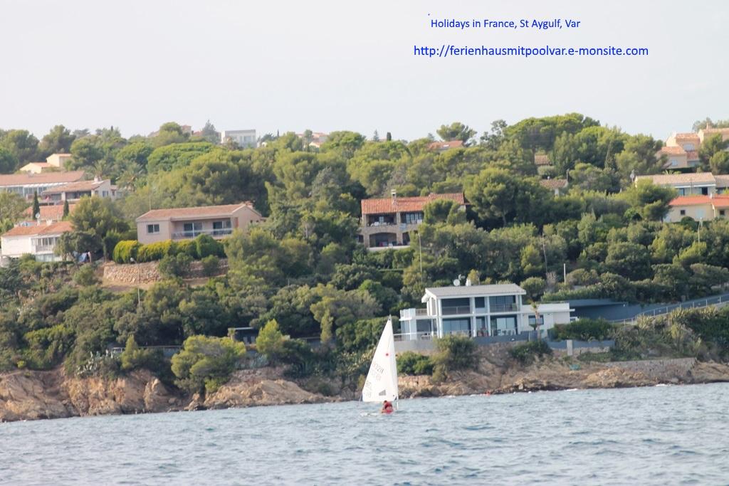 La course des voiliers vers st-Tropez